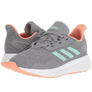 Adidas Girl's Duramo 9 Shoes in Gray & Mint Size 3